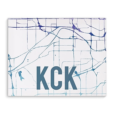 Kavka Kck Purple Sunset Front Graphic Art on Wrapped Canvas; 16'' H x 20'' W x 2'' D