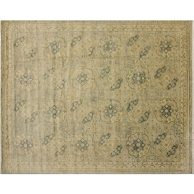 Bloomsbury Market Bellview Hand-Knotted Green/Gray Area Rug