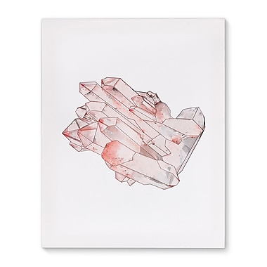 Kavka Mineral Rose Quartz Graphic Art on Wrapped Canvas; 20'' H x 16'' W x 2'' D