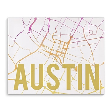 Kavka Austin Pink Sunset Front Graphic Art on Wrapped Canvas; 16'' H x 20'' W x 2'' D