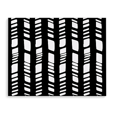 Kavka Baby Tribal Black Graphic Art on Wrapped Canvas; 16'' H x 20'' W x 2'' D