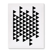 Kavka Black and White Triangels Graphic Art on Wrapped Canvas; 20'' H x 16'' W x 2'' D