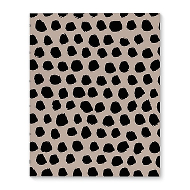 Kavka Dalmatian Tan Graphic Art on Wrapped Canvas; 10'' H x 8'' W x 2'' D
