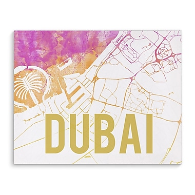 Kavka Dubai Pink Sunset Front Graphic Art on Wrapped Canvas; 8'' H x 10'' W x 2'' D