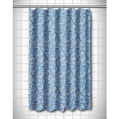 Island Girl Home Coastal Dreamy Sea Shower Curtain; Blue