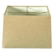 RoyalDesigns Timeless 14'' Linen Square Lamp Shade; White
