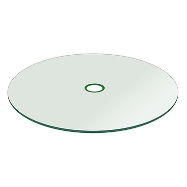 Fab Glass and Mirror Round Flat Tempered w/ Hole Patio Glass Table Top