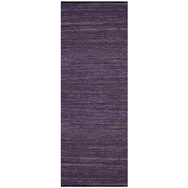 St. Croix Matador Leather Chindi Purple Rug; 5' x 8'