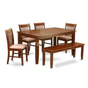 Wooden Importers Dudley 6 Piece Dining Set; Microfiber