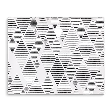 Kavka Sketched Diamonds White Graphic Art on Wrapped Canvas; 16'' H x 20'' W x 2'' D