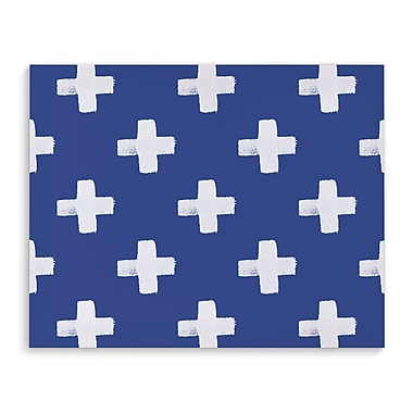 Kavka Swiss Cross Indigo Graphic Art on Wrapped Canvas; 24'' H x 36'' W x 2'' D