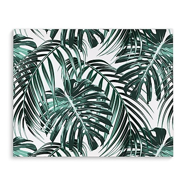 Kavka Tropical Green Graphic Art on Wrapped Canvas; 8'' H x 10'' W x 2'' D