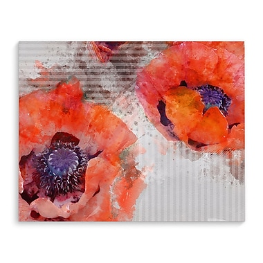 Ivy Bronx Prince 'Poppies' Graphic Art on Wrapped Canvas; 24'' H x 36'' W x 2'' D