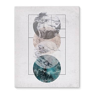 Kavka 4 Worlds Graphic Art on Wrapped Canvas; 10'' H x 8'' W x 2'' D