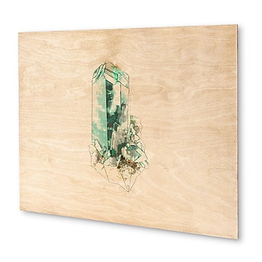Kavka Mineral Dioptase Graphic Art on Wood; 16'' H x 20'' W x 1.5'' D