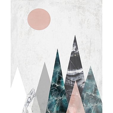 Kavka Mountains Graphic Art on Wood; 24'' H x 20'' W x 1.5'' D