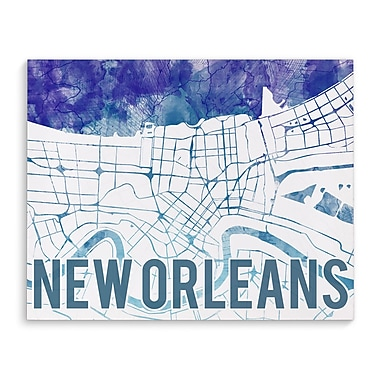 Kavka New Orleans Purple Sunset Front Graphic Art on Wrapped Canvas; 8'' H x 10'' W x 2'' D