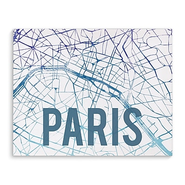 Kavka Paris Purple Sunset Front Graphic Art on Wrapped Canvas; 8'' H x 10'' W x 2'' D