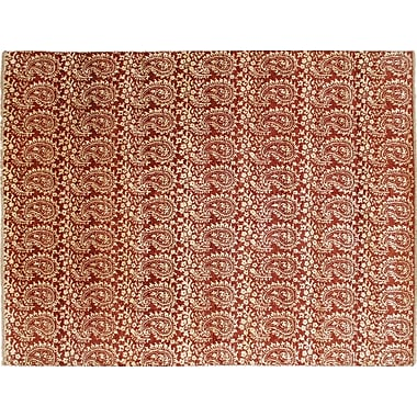 Bloomsbury Market Bellview Hand-Knotted Rust Area Rug