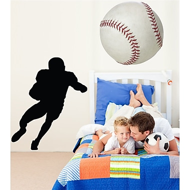 Wallhogs Football Ball Carrier Silhouette Cutout Wall Decal; 24'' H x 19.5'' W