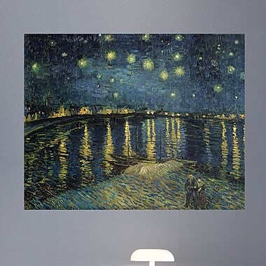 Wallhogs Van Gogh The Starry Night (1888) Wall Mural; 28.5'' H x 36'' W