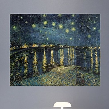 Wallhogs Van Gogh The Starry Night (1888) Wall Mural; 38'' H x 48'' W