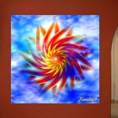 Wallhogs Xzendor7 Double Sunstar Twirl Wall Mural; 36'' H x 36'' W