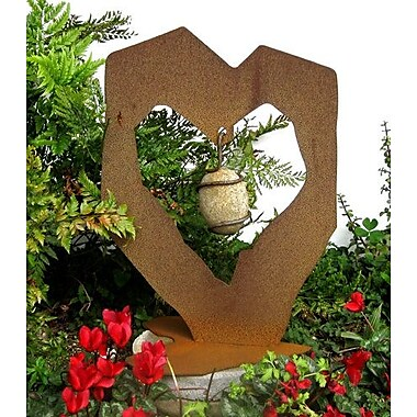 ZGardenParty Rock Solid Heart w/ Stone Statue; 16.5'' H x 12'' W x 8'' D