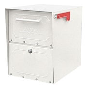 Architectural Mailboxes Oasis Locking Post Mounted Mailbox; White
