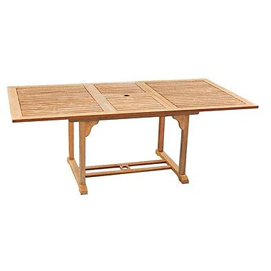 HiTeak Furniture Rectangular Extension Dining Table