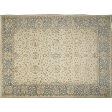 Darby Home Co Leann Hand-Knotted Oriental Ivory Area Rug