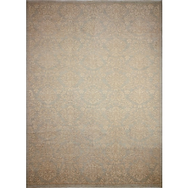 Darby Home Co Leann Hand-Knotted Gray/Blue Rectangle Area Rug