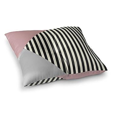 Kavka Layered Stripe Floor Pillow; 23'' H x 23'' W x 9.5'' D