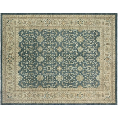 Darby Home Co Leann Hand-Knotted Rectangle Blue/Gray Area Rug