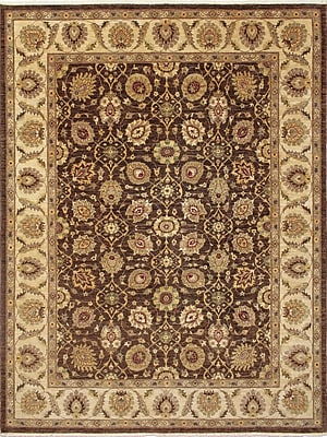 Astoria Grand Montague Hand-Knotted Oriental Brown Area Rug