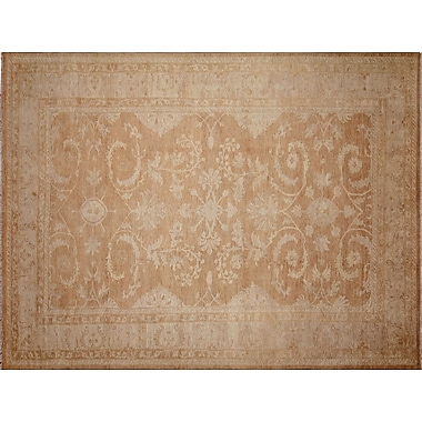 Darby Home Co Leann Hand-Knotted Rectangle Light Brown Indoor Area Rug