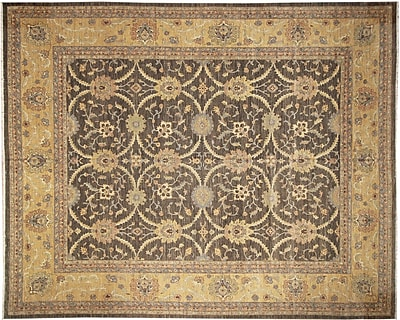 Darby Home Co Leann Hand-Knotted Dark Green Area Rug