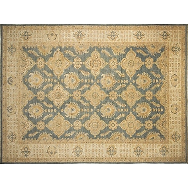 Darby Home Co Leann Hand-Knotted Gray/Blue Area Rug