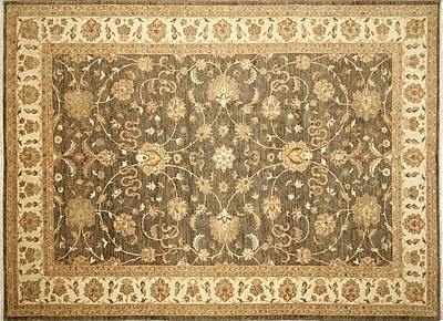 Darby Home Co Leann Hand-Knotted Green/Gray Area Rug