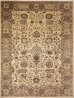 Darby Home Co Leann Hand-Knotted Oriental Beige Wool Indoor Area Rug