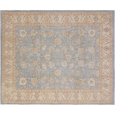 Darby Home Co Leann Hand-Knotted Oriental Light Blue Area Rug