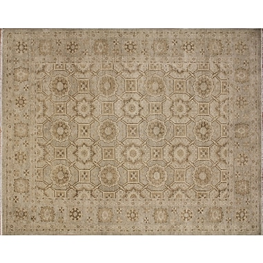 Darby Home Co Leann Hand-Knotted Oriental Beige Wool Area Rug