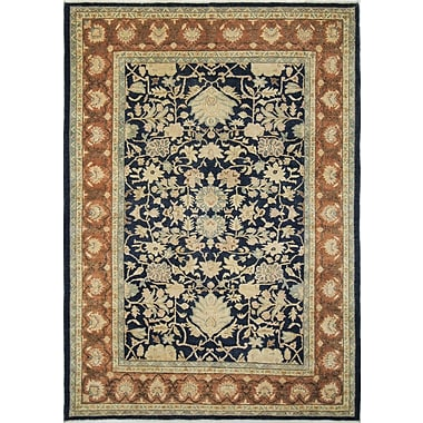 Darby Home Co Leann Hand-Knotted Oriental Rectangle Blue Indoor Area Rug