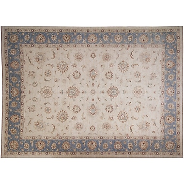 Darby Home Co Leann Hand-Knotted Ivory/Blue Area Rug