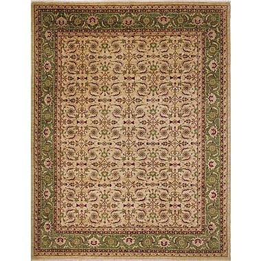 Darby Home Co Leann Hand-Knotted Intricate Beige Wool Area Rug