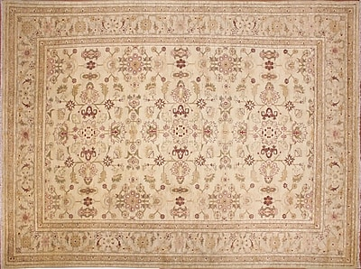 Darby Home Co Leann Hand-Knotted Floral Ivory Indoor Area Rug