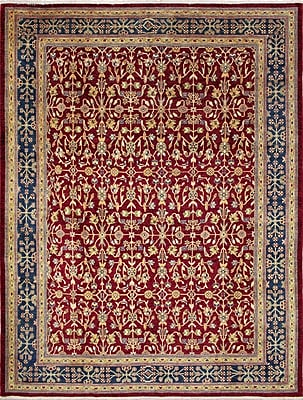 Darby Home Co Leann Hand-Knotted Red Area Rug