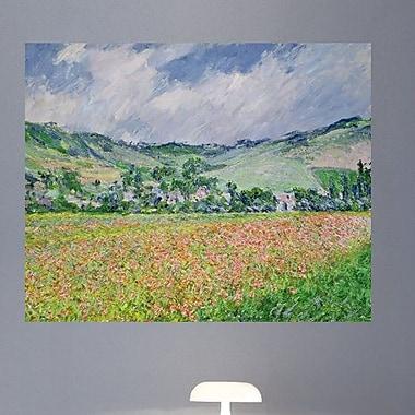 Wallhogs Monet The Poppy Field Near Giverny (1885) Wall Mural; 38.5'' H x 48'' W