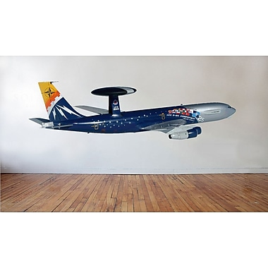 Wallhogs HR 25th Ann. Radar Plane Cutout Wall Decal; 13.5'' H x 48'' W