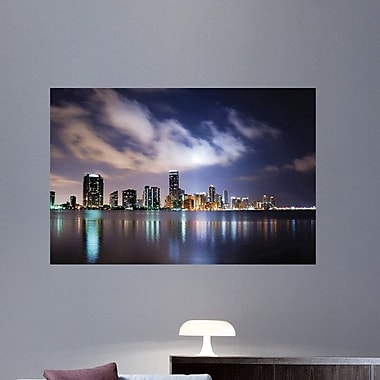 Wallhogs Dusk Miami Wall Decal; 40'' H x 60'' W